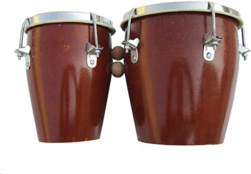 PAL MUSIC HOUSE Professional Two Piece Wooden Bongo Set Brown