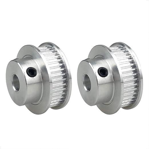 4 Unids 3D Impresora Gt2 Polea de Correa Dentada Dientes Taladraron Aleaci/ón de Aluminio 36 Dientes perforaron 10mm