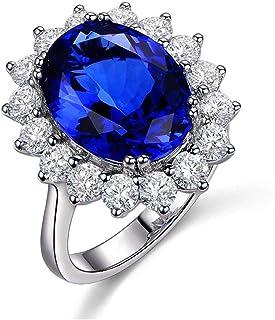 Lozse Anelli regolabili Anello aperto da donna anello naturale zaffiro
