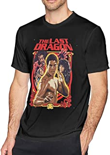 Mens The Last Dragon Martial Arts Retro 80's Action Movie Adult Regular Fit Casual Short T-Shirt Tee Black
