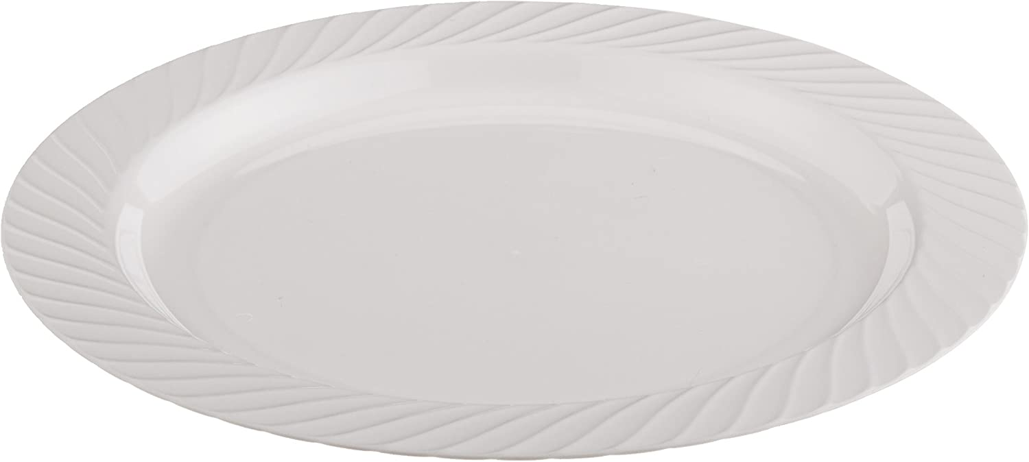 Opulence Heavyweight Plastic Plate, 7.5-Inch Diameter, White (240-Count)