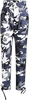 Qootent Women Camouflage Cargo Pants High Waist Casual Cotton Pants Harem Pants