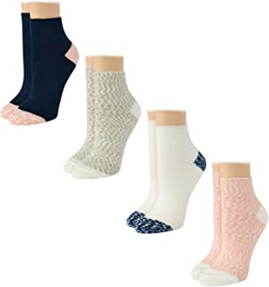 Women's Socks - Fuzzy, Cozy, Mid Crew Slipper Socks (4 Pack)