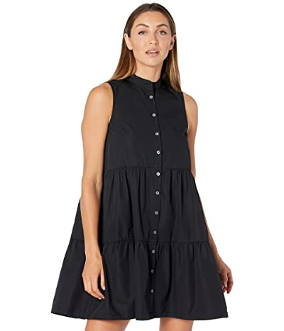 Madewell Banded-Collar Tiered Dress