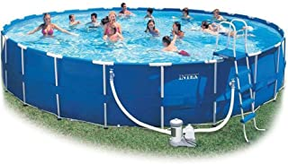 Intex 56952 Round Metal Frame Pool 549x122cm Big Swimming Pool for Party Easy Set Outside Swimming Pool