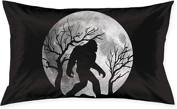 PLO Bigfoot Sasquatch Full Moon Sofa Pillows Soft Art Cushion 20x30 Inch
