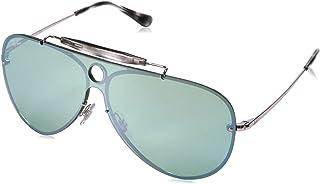 Ray-Ban Blaze Shooter Non-Polarized Iridium Aviator Sunglasses, Silver, 0 mm