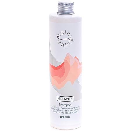 Main Thing, shampoo senza solfati per la crescita e protezione dalla caduta dei capelli, con cellule staminali da uva verde, oli essenziali, estratti vegetali e vitamine, 300 ml