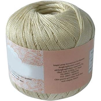 Hilo de algodón mercerizado para bordar, ganchillo, para tejer, joyería de encaje. - geshiglobal. 09#: Amazon.es: Hogar