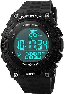 Fanmis Unisex Pedometer Watches Military Multifunctional 50M Waterproof Digital Outdoor Sports Watch