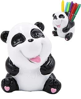 Exquisite Cute Resin Animal Pen Pencil Holder Desk Storage Box Organizer Accessories (Panda)