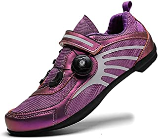 ZMYC Cycling Shoes Men Women Anti-skid Breathable Cycling Shoes Racing Shoes MTB Shoes Flat Without Click System Lightweight Outdoor Racing Shoes (Color : Purple, Size : 40)