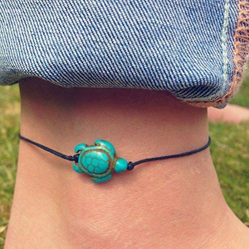 Jovono - Tobillera de cordón con tortuga hawaiana para mujeres y niñas