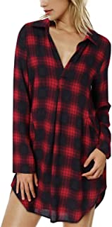 kenoce Blouse Dress for Women V Neck Solid Plain Loose 3/4 Sleeve Shirt Dresses Casual Long Tunic Tops