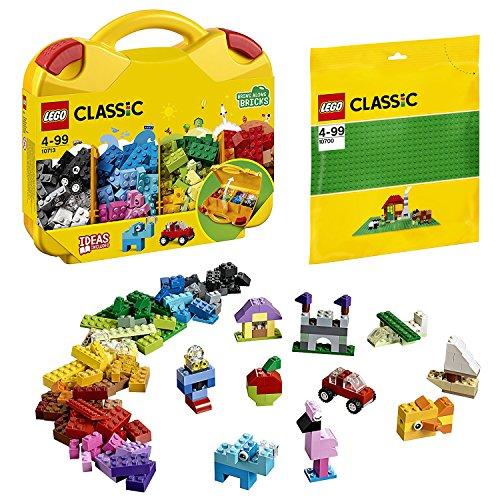 Lego Classic 2er Set 10713 10700 Bausteine Starterkoffer + Bauplatte Grün