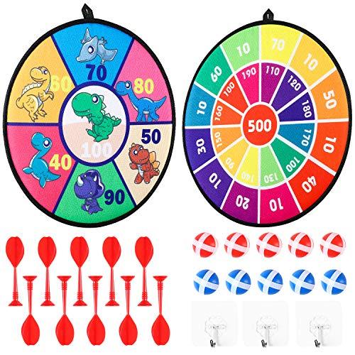 WATINC 25Pcs Kids Dart Brettspiel Set Dartscheibe mit Klettverschluss Sticky Balls Darts Indoor Outdoor Safe Dart Board Spiel für Kinder Erwachsene