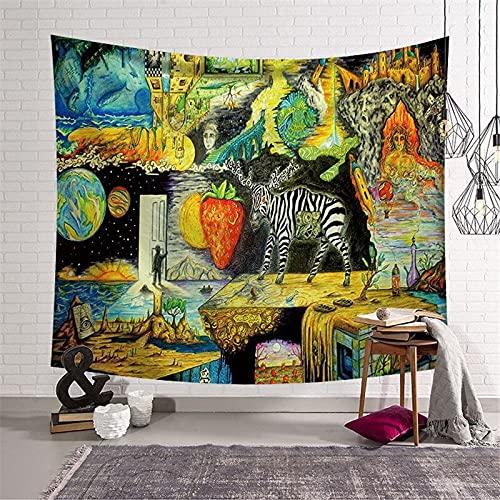 PPOU Tapiz Grande para decoración de habitación, Tapiz para Colgar en la Pared, decoración Mandala Boho Hippie, Tapiz para decoración del hogar A7, 73x95cm