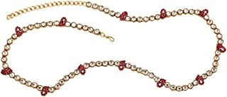 I Jewels Traditional Gold Plated Kundan and Stone Studded Kamarband for Women