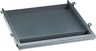 "Iceberg ICE95452 Aspira High-Density Polyethylene Utility Drawer, 14"" Width x 1-1/2"" Height x 14-1/2"" Depth, Charcoal"