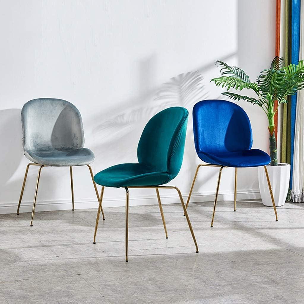 HXF- Chaise de salle à manger, chaise de bureau simple, dossier créatif, chaise de loisirs, chaise de salle à manger pour adulte durable (couleur : gris) Bleu