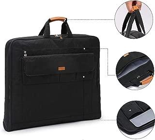 iN. Nylon Foldable Travel Garment Bag Suit Travel Bag Carry On Suit Bag Built Hook Multiple Pockets