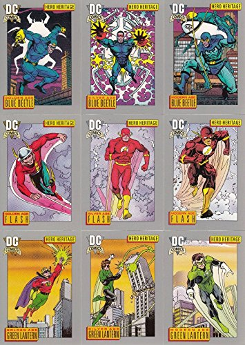 DC COSMIC CARDS INAUGURAL EDITION 1991 IMPEL COMPLETE BASE CARD SET OF 180 COMIC