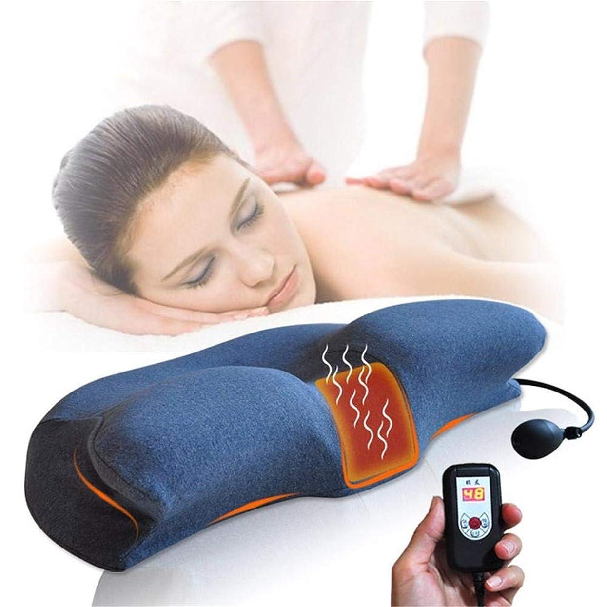 刺激するテンポボタン記憶 枕 インフレータブル頸椎牽引装置 標準的なヘルスケアの整形外科の枕マッサージの睡眠の首の肩の枕