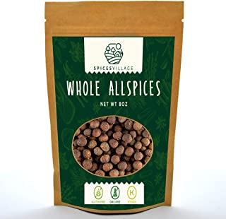 Spices Village Whole Allspice, All Natural Fresh Dried Spice Berries for Sauces, Soups, Curries, Pastries, Pickles, Jamaic...