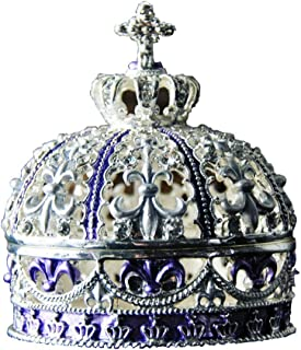 Creative Vintage Metal Alloy Crown Design Jewelry Box Ring Trinket Case Jewellery Organiser Storage Boxes Christmas Birthday Gift, Small