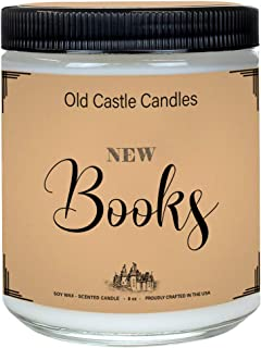 Book Candle - New Books - Literary Bookish Gift - 8oz Handmade