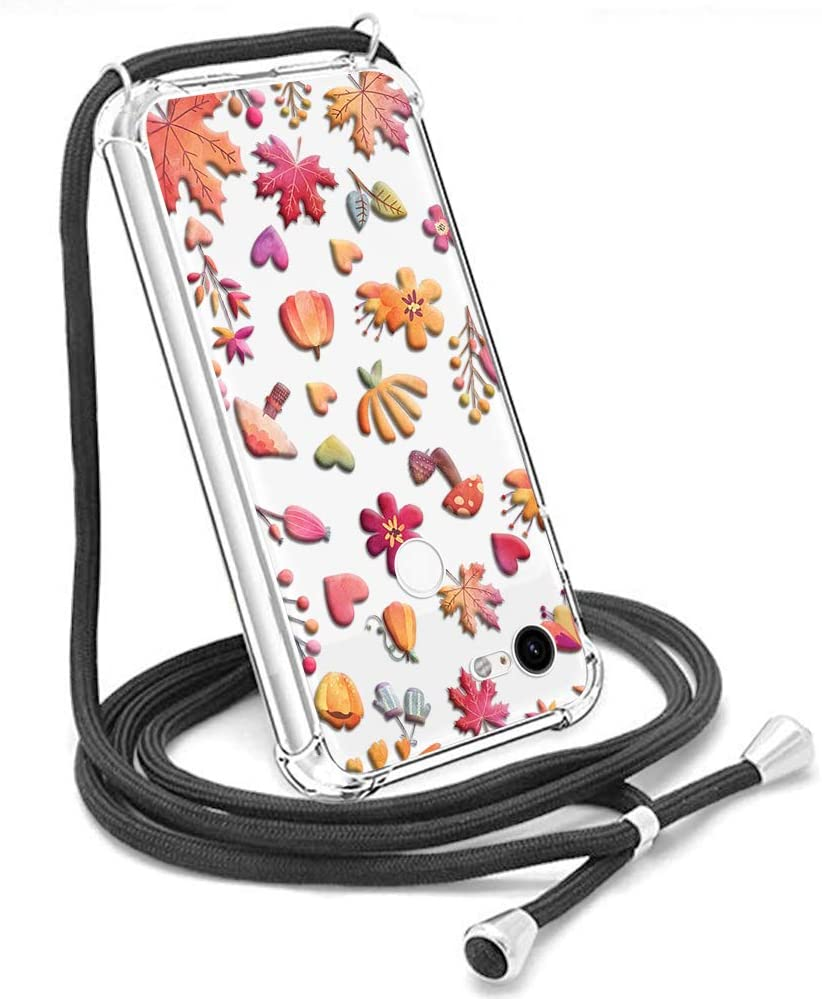 Crossbody Case for Google Pixel 3,Necklace Mobile Phone Cover with Cord Strap for Pixel 3,Clear Warm Design Transparent TPU Soft Cover for Google Pixel 3 Holder with Neck Cord Lanyard Strap - Warm