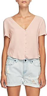 Mossimo Women's Lina Short Sleeve Shirt