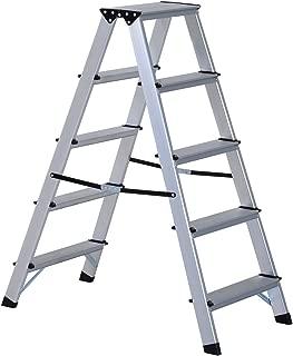 HOMCOM Escalera de Tijera Aluminio Plegable Escalera Domé