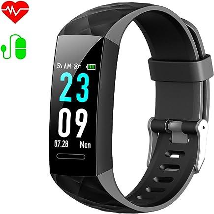 HETP Montre Connectée Femmes Homme Bracelet Connecté Podomètre Cardiofréquencemètre et Tension Artérielle GPS Smartwatch Sport Montre