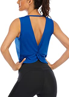 ICTIVE Workout Tank Tops for Women Summer Cute Crop Tops for Women Backless Muscle Tanks Active Gym Tops