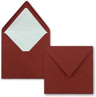 Klappkarten quadratisch Gold 25x Briefumschläge 16x16 cm // 15,5x15,5 cm