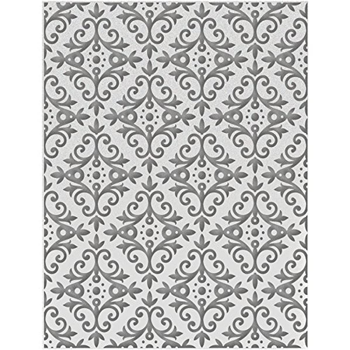 Couture Creations Embossing Folder A2-Garden Frame - Hearts Ease