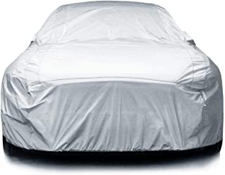 iCarCover 7-Layers All Weather Waterproof Snow Rain UV Sun Dust Protection Automobile Outdoor Coupe Sedan Hatchback Wagon Custom-Fit Full Body Auto Vehicle Car Cover - for Cars Up to 213""