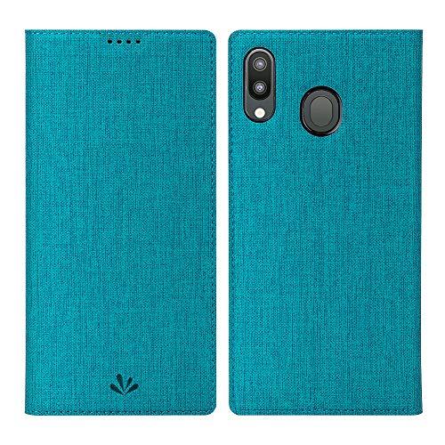 Eastcoo Galaxy A40 Hülle Tasche, PU Leder Geldbörse Tasche mit [Magnetic Cloure][Kartenhalter][ID Holder][TPU Bumper]Stoßfest Schutzbrieftasche Flip Tasche für Samsung Galaxy A40 Smartphone(A40,Blau)