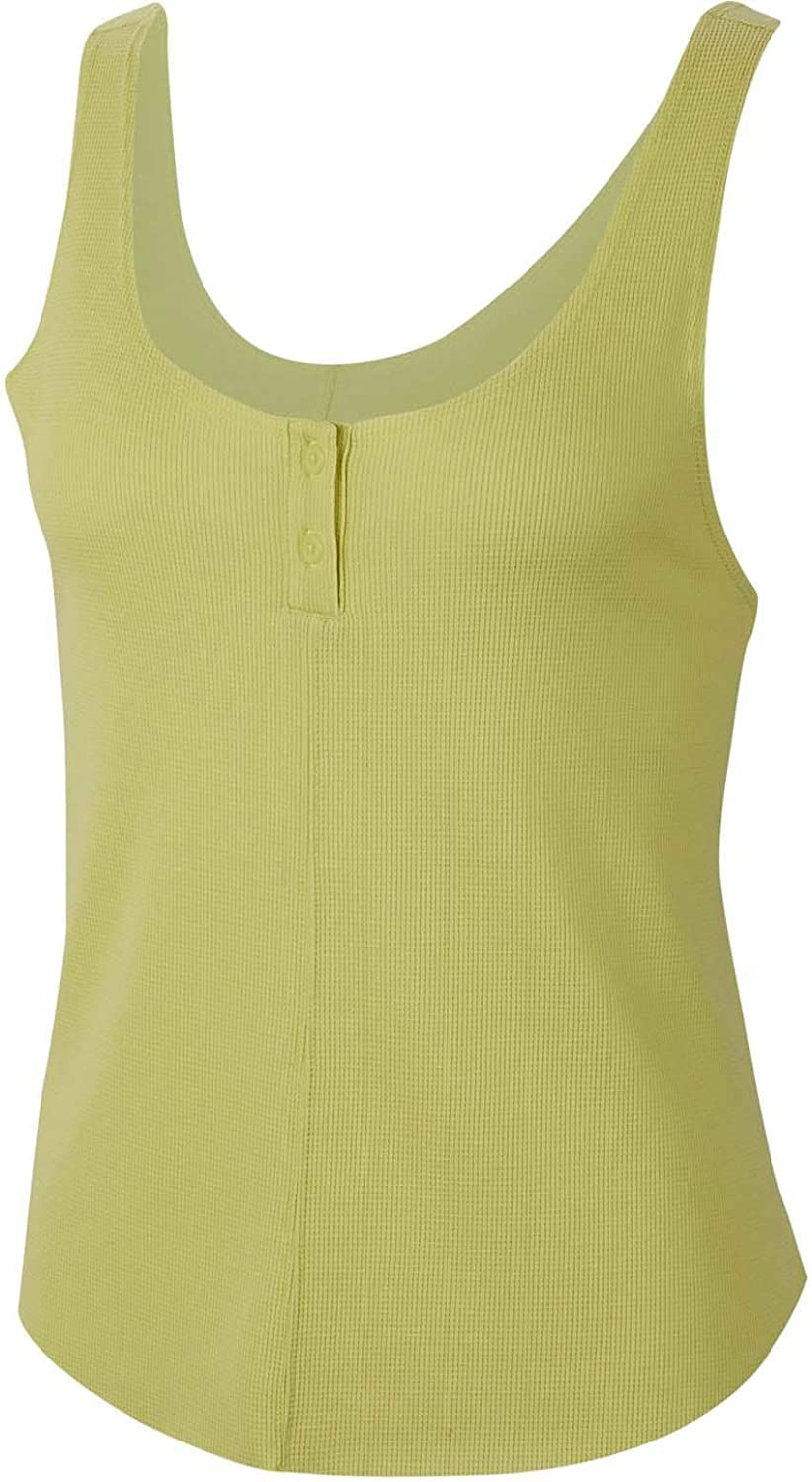 Nike Women's Yoga Luxe Henley Tank Top Limelight Small