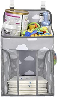 Nappy Caddy | Hanging Nappy Organiser | Baby Diaper Caddy Organizer | Nappy Stacker | Nursery Storage for Change Table, Co...