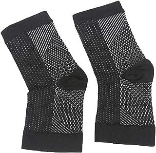 SUPVOX calcetines tobilleros calcetines deportivos de nylon para correr atlético calcetines de compresión unisex para ejercicio deportivo correr baloncesto negro 1 par (s/m)