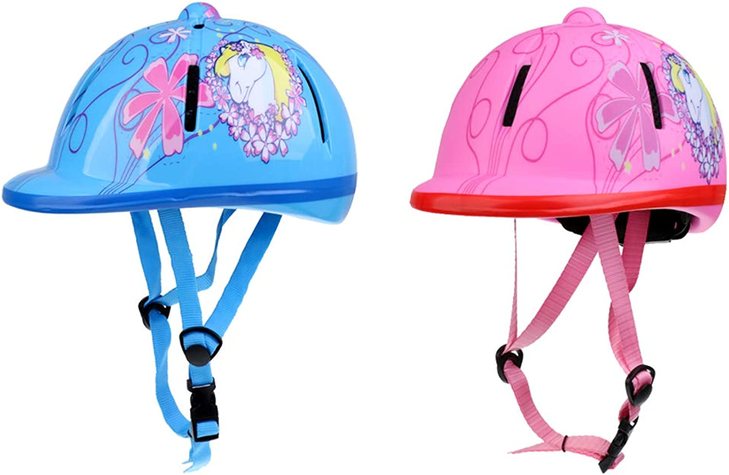 DYNWAVE 2 Pieces Equestrian Sport Helmets for Boys and Girls, Outdoor Horse Riding Hat Head Predector