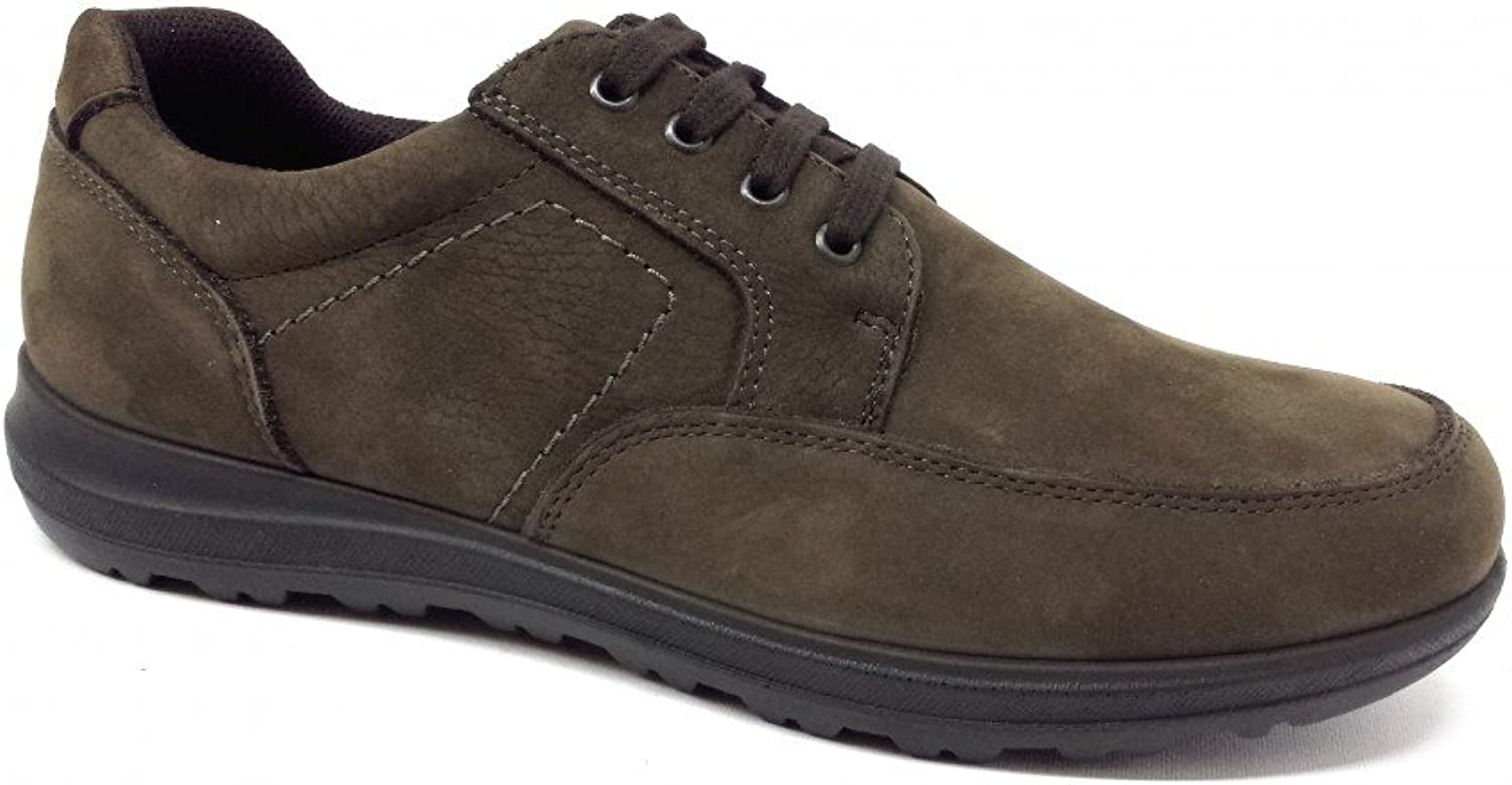 Enval Soft Men's Lace-Up Flats Brown mocha