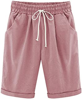Vcansion Women's Casual Shorts with Elastic Waist Drawstring