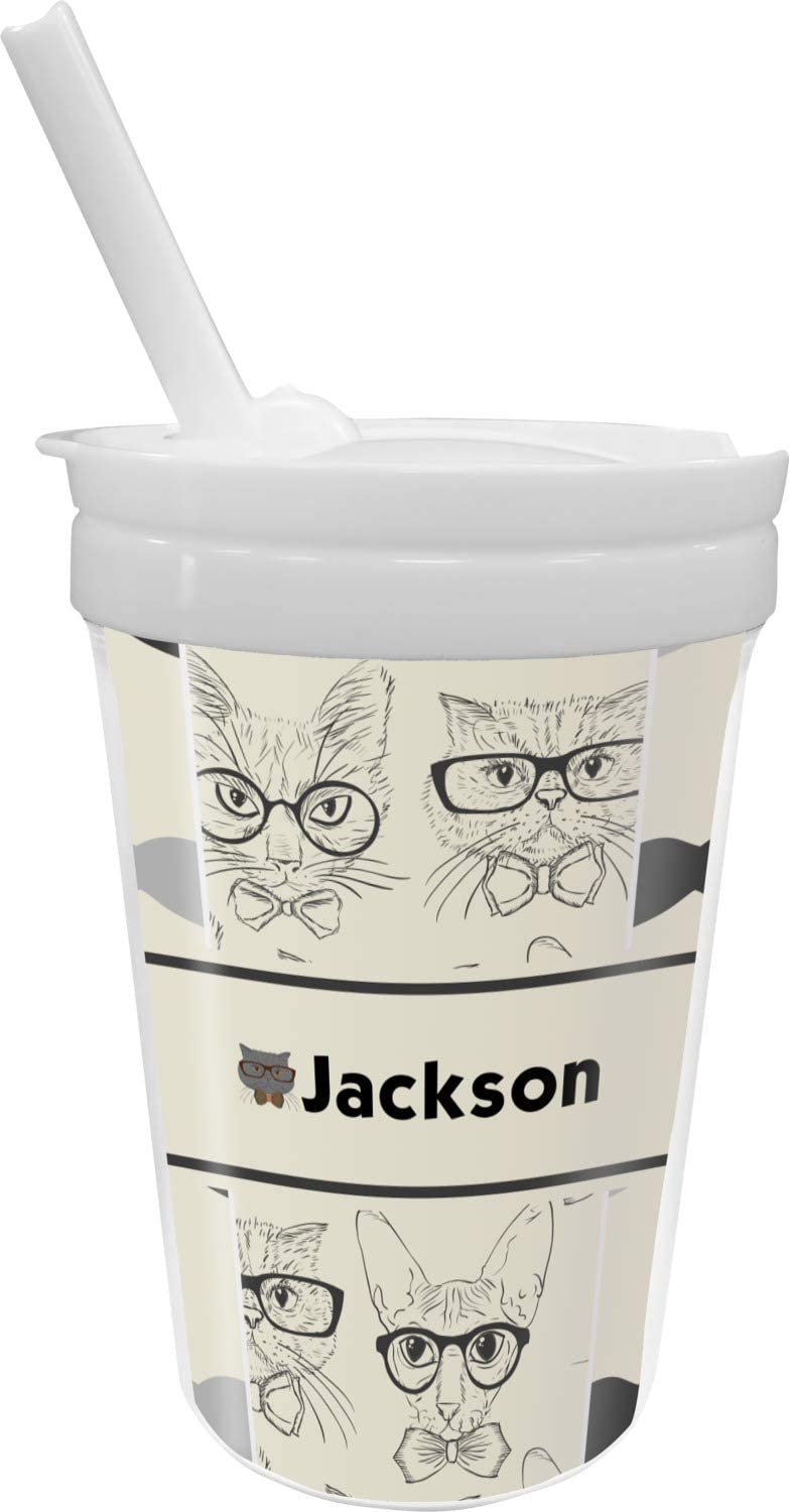 Hipster [Alternative dealer] Popular overseas Cats Mustache Sippy Personalized Straw Cup with