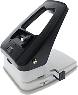 Desktop ID Card Hole Punch Tool for Name Badges - Three in One Slot Puncher with Guide (Slot Hole, Round Hole, Corner Rounder)