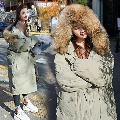 Xuanku pour Le RenforceHommest Lache des Travaux sur La Veste De Manteau De Coton Genou Nagymaros Femme Long Manteaus,jaune