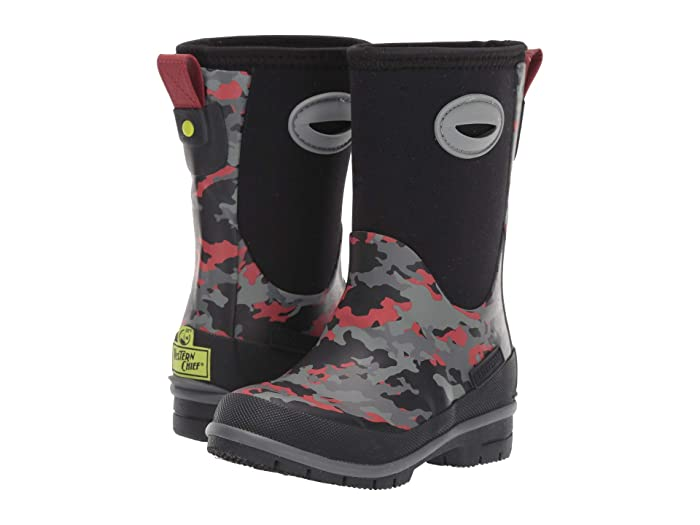 Western Chief Kids/' Neoprene Boot Black Camo NEW Without Box