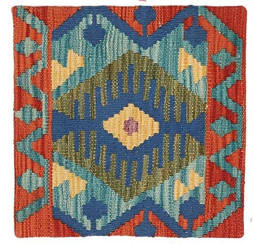 WR Home Decore Tapis Kilim Authentique Fait Main Housses de Coussin, 45cmx45 cm (311), Guide de Cadeau de Noël et Nouvel an